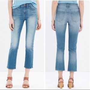 Madewell kick out crop jeans